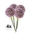 4x lila sierui kunstbloemen 70 cm