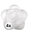 4x piepschuim rozen 11 5 cm
