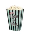 4x rock n roll popcornbakjes 13 cm
