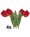 4x rode tulp kunstbloemen 48 cm