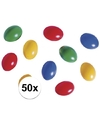 50x gekleurde plastic eieren 10 stuks