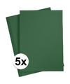 5x a4 hobby karton donkergroen 180 grams