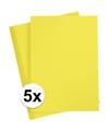 5x a4 hobby karton geel 180 grams