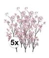5x appelbloesem roze kunstbloemen 104 cm