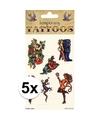 5x biker tattoos 6 stuks