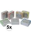 5x bingo kaarten 1 75 gekleurd