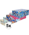 5x disney inpakpapier pakket voor kinder cadeautjes 200 x 70 cm