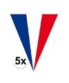 5x frankrijk vlaggenlijnen 5 meter