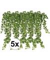 5x groene klimop takken kunstplanten 65 cm