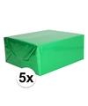 5x holografische groen metallic hobbyfolie 70 x 150 cm