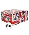 5x inpakpapier union jack 200 x 70 cm op rol