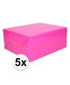 5x kadopapier fuchsia roze 200 x 70 cm op rol