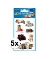 5x kitten stickers 3 vellen