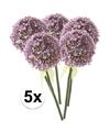 5x lila sierui kunstbloemen 70 cm