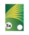 5x luxe schrift a4 formaat groene harde kaft