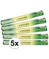 5x pakje wierook stokjes cannabis