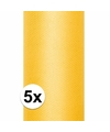 5x rollen tule stof geel 0 15 x 9 meter