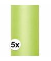 5x rollen tule stof licht groen 0 15 x 9 meter