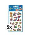 5x schildpad stickers 2 vellen