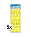 5x stickervel smiley face