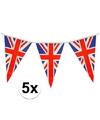 5x union jack vlaggenlijn 7 meter