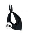 5x zakdoek bandana zwart