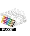 6 pasen kleurplaten placemats inclusief kleurpotloden