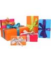 6 x gekleurde cadeaudoosjes 10 24 cm met gekleurde strik