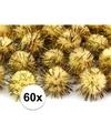 60x gele knutsel pompons 20 mm