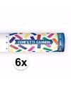 6x confetti kanon kleuren mix 20 cm
