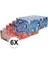 6x disney inpakpapier pakket voor kinder cadeautjes 200 x 70 cm