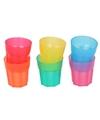 6x gekleurde shotglaasjes van plastic