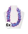 6x hawaii slinger paars blauw