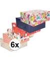 6x inpakpapier pakket voor het hele gezin