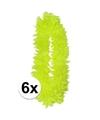 6x neon gele hawaii slingers
