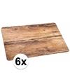 6x placemat eikenhout opdruk 44 x 28 5 cm