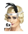 6x zilveren jaren 20 hoofdbanden