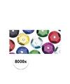 8000x pailletten gekleurd 6 mm