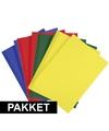8x a4 hobby karton blauw rood donkergroen geel