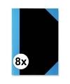8x luxe schriften zwart a7 formaat