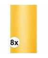 8x rollen tule stof geel 0 15 x 9 meter