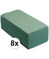 8x steekschuim blokken 23 x 11 x 8 cm