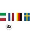 8x vlaggenlijn europa 10 meter