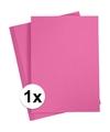 A4 hobby karton fuchsia roze 180 grams 1x