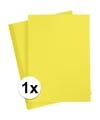 A4 hobby karton geel 180 grams 1x