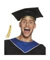 Afstudeer hoed geslaagd zwart voor volwassenen