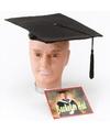 Afstudeer hoed zwart vilt voor volwassenen