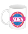 Alina naam koffie mok beker 300 ml