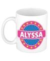 Alyssa naam koffie mok beker 300 ml