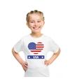 Amerika usa hart vlag t shirt wit jongens en meisjes